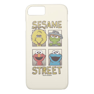 Sesame StreetVintage Character Comic iPhone 8/7 Case