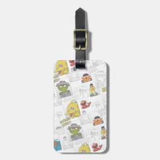 Sesame StreetVintage Comic Pattern Luggage Tag