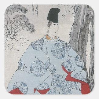 Seson Temple Moon (Sesonji no tsuki) Square Sticker