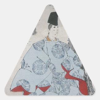 Seson Temple Moon (Sesonji no tsuki) Triangle Sticker