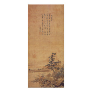Sesshu Toyo Landscape of Four Seasons - Spring Poster