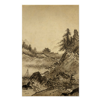 Sesshu Toyo Winter Landscape. Poster