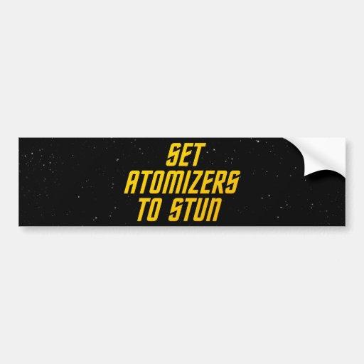 Set Atomizers to Stun Bumper Stickers