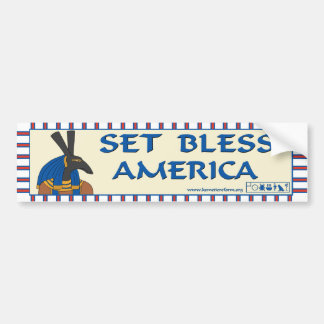 Set Bless America Bumper Sticker