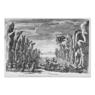 Set design by Torelli for 'Andromede' Poster