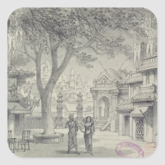 Set Design for Act II of the opera 'Lakme' Square Sticker