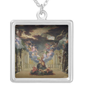 Set design for 'Atys' by Jean-Baptiste Lully Silver Plated Necklace
