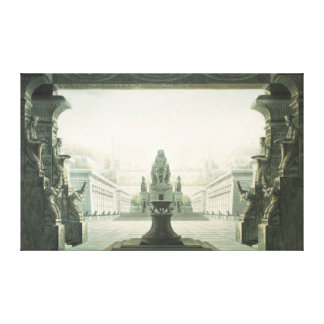 Set design for last scene of 'The Magic Flute' Canvas Print