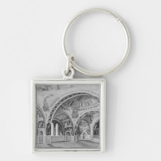 Set design for the church of Chatillon. Key Ring