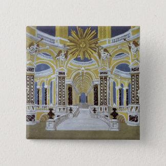 Set design for 'The Magic Flute' 15 Cm Square Badge