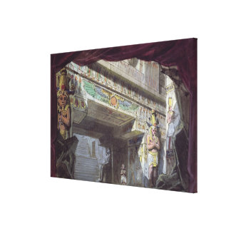 Set design for 'The Magic Flute' by Mozart Stretched Canvas Prints