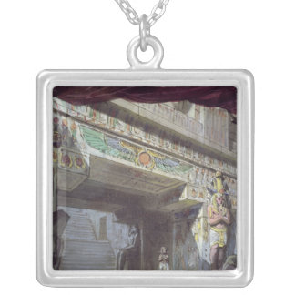 Set design for 'The Magic Flute' by Mozart Silver Plated Necklace