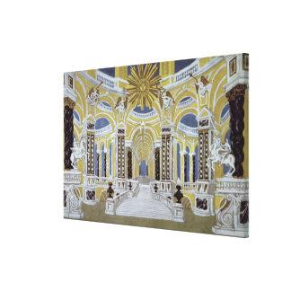 Set design for 'The Magic Flute' Stretched Canvas Prints