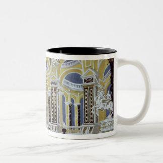 Set design for 'The Magic Flute' Two-Tone Coffee Mug