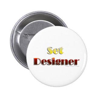 Set Designer (Text Only) 6 Cm Round Badge