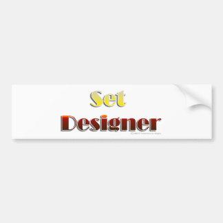 Set Designer (Text Only) Bumper Sticker