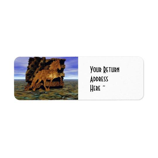 Set in Stone Return Address Label