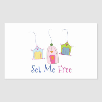 Set Me Free Rectangle Stickers