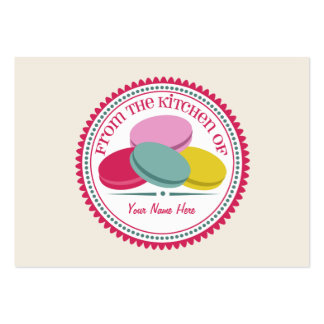 Set Of 100 Recipe Cards - French Macarons Business Card Templates