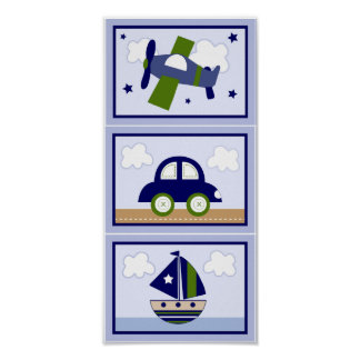 Set of 3 in 1 Cambridge/Transportation 5x7 prints