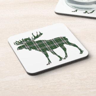 Set Of 6 Cape Breton tartan Drink Coasters moose