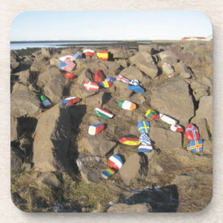 Set of 6 Drinks Coasters: Rocks Painted With Flags Drink Coaster