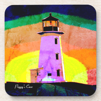 Set Of 6 Peggy's Cove Lighthouse Drink Coasters