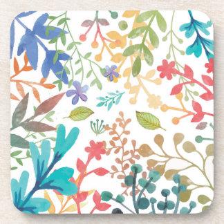 Set of 6 Summer Woodland Watercolor Coasters