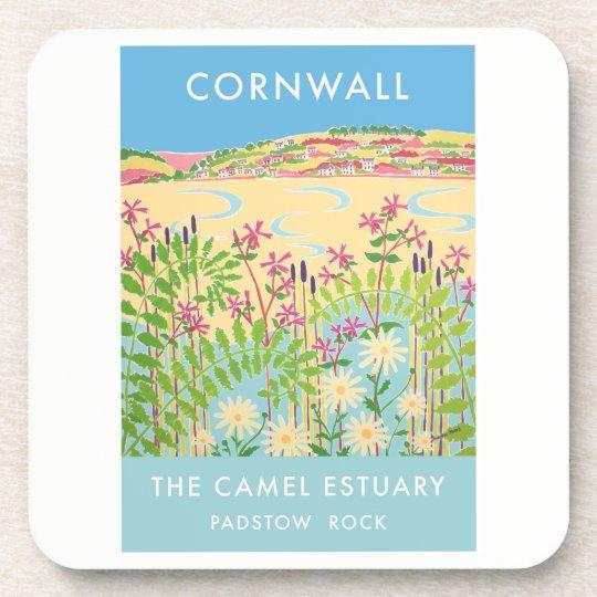 Set of 6:Vintage Style Coasters,Camel Estuary Rock Coaster