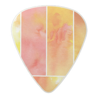 Set of abstract  watercolor hand painted acetal guitar pick