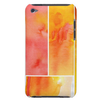 Set of abstract  watercolor hand painted barely there iPod cases