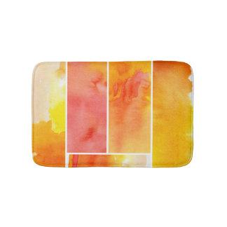Set of abstract  watercolor hand painted bath mat