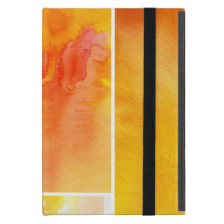 Set of abstract  watercolor hand painted case for iPad mini