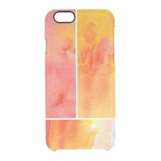 Set of abstract  watercolor hand painted clear iPhone 6/6S case