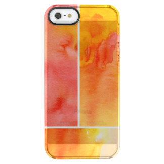 Set of abstract  watercolor hand painted clear iPhone SE/5/5s case