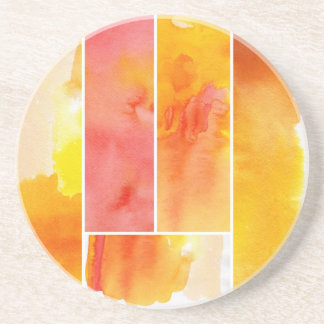 Set of abstract  watercolor hand painted coaster
