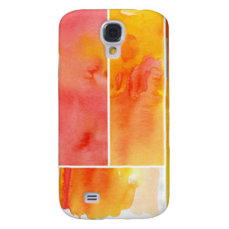 Set of abstract  watercolor hand painted galaxy s4 case