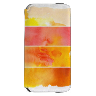 Set of abstract  watercolor hand painted incipio watson™ iPhone 6 wallet case