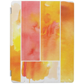 Set of abstract  watercolor hand painted iPad cover