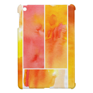 Set of abstract  watercolor hand painted iPad mini cases