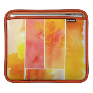 Set of abstract  watercolor hand painted iPad sleeve