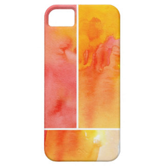 Set of abstract  watercolor hand painted iPhone 5 case