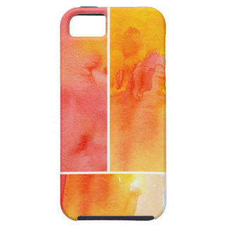 Set of abstract  watercolor hand painted iPhone 5 cases