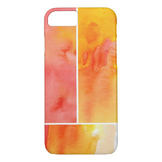 Set of abstract watercolor hand painted iPhone 7 case