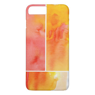 Set of abstract watercolor hand painted iPhone 8 plus/7 plus case