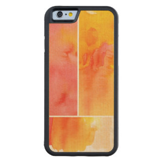 Set of abstract  watercolor hand painted maple iPhone 6 bumper case