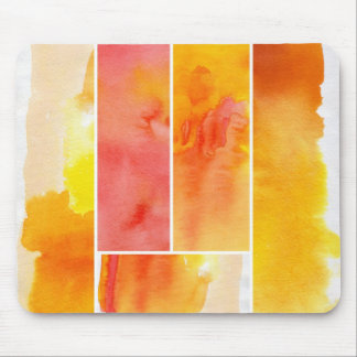 Set of abstract  watercolor hand painted mouse mat