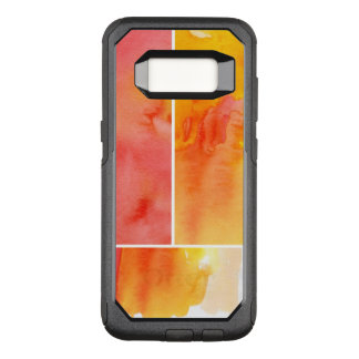 Set of abstract watercolor hand painted OtterBox commuter samsung galaxy s8 case