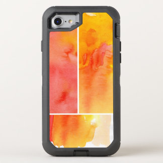 Set of abstract  watercolor hand painted OtterBox defender iPhone 7 case