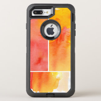 Set of abstract  watercolor hand painted OtterBox defender iPhone 7 plus case